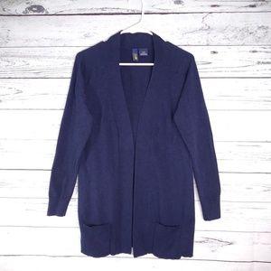 "Kersh ""Polished"" Open Dark Blue Cardigan. Size M."